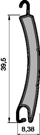 Lame Alugix 39.5 Bombée