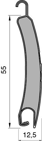 Lame Alu 55 Bombée